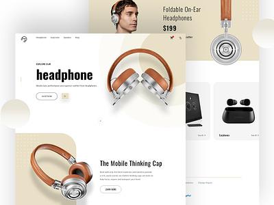 HD Product Design II UI Daily typography webui mobile earphone headphone uxdesign uidesigner homepage webdesigner interactiondesign interaction xd psd layouts uiconcept landingpage onepage productdesign ux ui