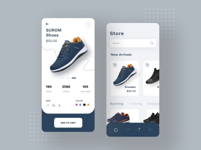 Sneakers Store App blogapp psd xd design uxdesign interactions productapp checkout form shoesapp motion menu search uiconcept uidesign trend storeapp mobileui mobile app ux ui
