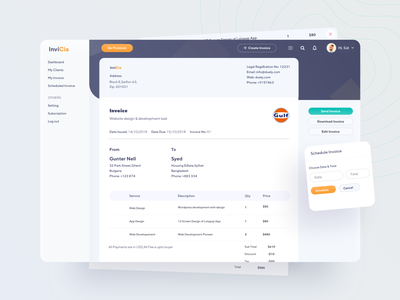 Invoice Generator UI 03 dashboard edit invoice download invoice send invoice website invoice peview previewpage ofspace sketch series application applications paid due uiux application ui invoice genertor invoice web application webapps application