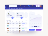 Seller Store income chart dashboard ui dashboard design dashboard app ecommerce design ecommerce business ecommerce shop ecommerce ecommerce app seller web design user interface clean ux creative dashboard website landing page web ui