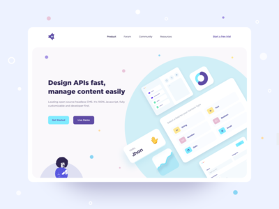 API Website website design illustration website banner builder website template shapes elements ui elements design website concept clean web userinterface ux ui website builder web design web header design website