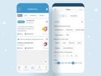 Job Listing (SHERKO) app series job list free design app design classified mobile app classified app filters cross platform hybrid app mobile app classified jobs job listing