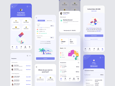 Banking App All Screens transection details recipients mobilebanking sendmoney hybrid hybridappdesign hybridapp appdesigner financeapp finance fintech moneytransfer bankingapplication bankingapp mobileapplication mobileappdesign mobileapp appdesign uiux ui