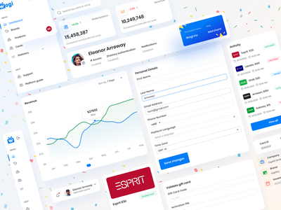 Seller Dashboard profile dashboard input forms best 2021 client project blue color graident dashboard template dashboard design dashboard app sidebar design ui graph uidesign varient figma component component uikit uiux ui seller dashboard dashboard ui