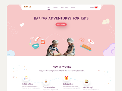 Bakery Website clean website website designer website navigation style websiteheaderdesign header uidesign bakerylandingpage landingpagedesign landingpageui pastrywebsite kidsbakery teachingwebsite kidswebsite learning websitre webapplication webappdesign website design bakery website