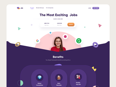 Job Finding Platform hire me hirewebdesign freelancerfinding jobswebapp jobplatform jobslanding joblandingpage landingpagedesign landingpage webdesign post a job exciting jobs webapplication jobs web search jobs 3d design ui design website design job website job finding