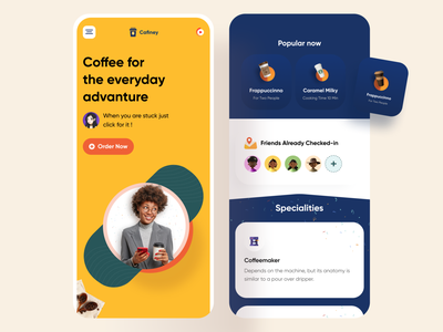 Coffee Shop Website Responsive shapes ux realimage illustration user interface ui design landingpagedesign landingpage website productlandingpage product page coffeeshop responsive website responsive uidesign uiux ui