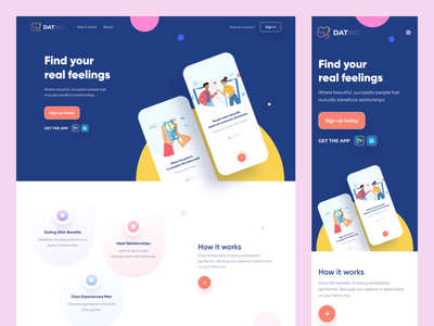 Dating Website dating app web landing page ux product design uiux uidesign dating free true dating adult dating matchmakerweb matchmakerwebsite responsiveapp datingwebapp datingapp responsive website webapplication datingweb dating website