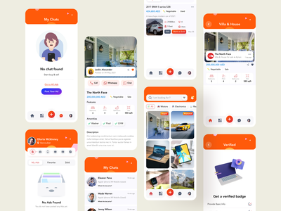 Classified All Screens all screens application uiux uidesign post ads sellapp buyapp mobile screen app screen apps design appdesign mobileapp mobile ui classified application classifiedscreen classified classifiedapp app design