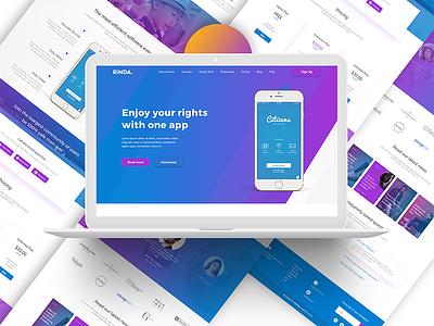 App Landing Page 02 (Gradient) ui ux web design app landing page creative gradient colorful yellow multi purpose psd new