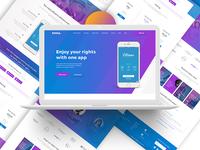 App Landing Page 02 (Gradient)
