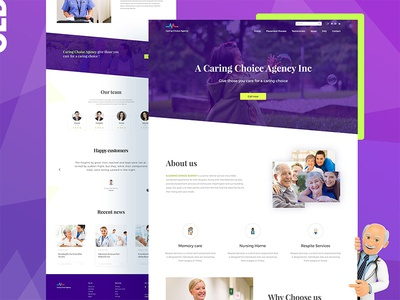 Caring agency Landing page 01