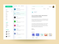 Email app Dashboard
