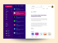Email app Dashboard (Colorful)