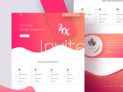 4 Dribbble Invites opportunity landing page career 4x dribble gradient gradient shapes colorful ui ui draft invitation invite
