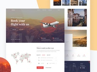 Flight Booking Landing Page