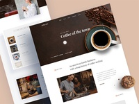 Coffee Shop Landing Page Concept