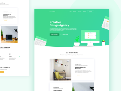Agency Template Concept 2018 typography web ui color user interface clean illustration web design creative minimal landing page