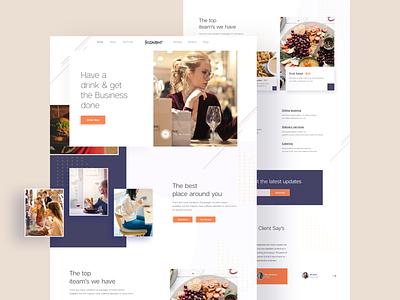 Restaurent Landing Concept 01 food restaurant web design design 2018 user interface color minimal creative web landing page ui