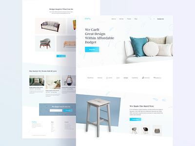 Crafty Web UI shape sofa chairs furniture ui 2019 clean web design agency user interface minimal landing page