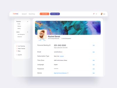 Communication Platform Profile UI