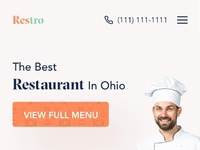 Restaurant web responsive