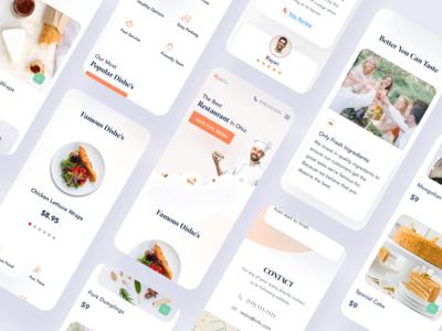 Restaurant Web UI Responsive Version