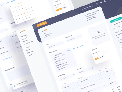 Invoice Generator UI 02 client work dashboard ui dashboard hiwow sketch pages input 2019 series clean software design web application webapplication webapps webdesign web ux generator invoice template invoice