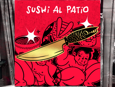 Enamel Pin / Knife enamel pin knife sushi pin enamel enamelpin procreate illustration