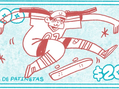Skate 2 skateboard skate character design procreate illustration