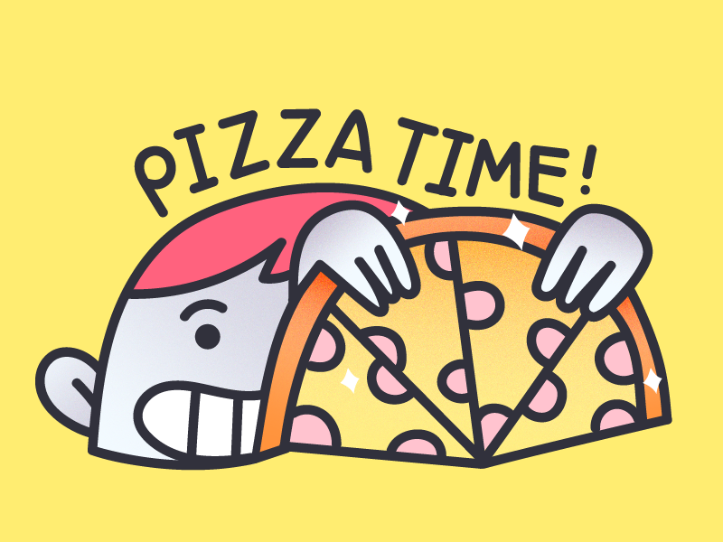 Pizza Time shiny tasty dinner roomie meal happy time sticker pizza
