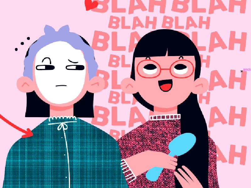 Roommates situations. IV talk pijama girls roommates roomies