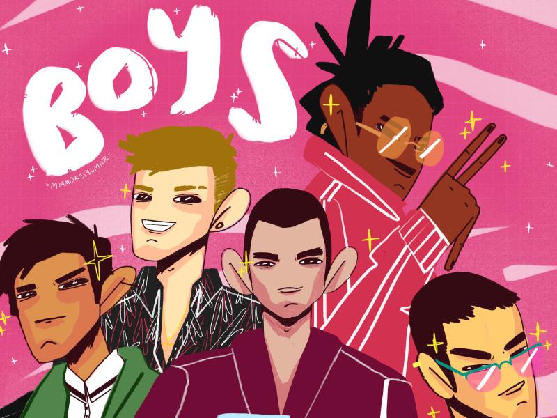 Boys characterdesign style fashion letter lettering guys pop video boys