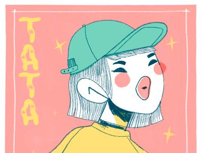 Café de Tata fashion illustration fashion japan texture girl character design procreate illustration
