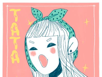 Café de Tata japan tokyo fashion illustration fashion girl character design procreate illustration