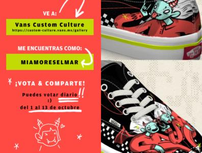 Vans Custom Culture / Vote for me vote halloween demon custom vans texture design procreate illustration