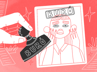 Fondeadora / Buró character design procreate illustration