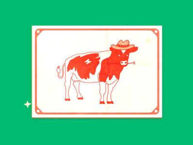 Texas themed bar texture branding design procreate illustration