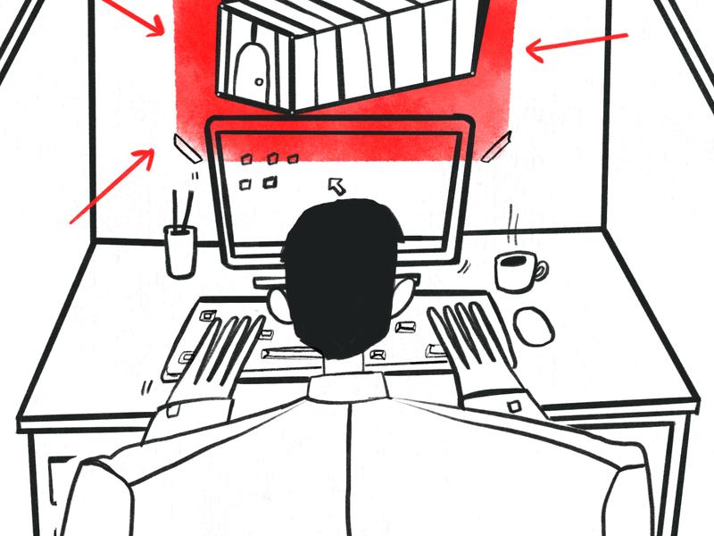Blog 01 Fondeadora workout office work character design procreate illustration