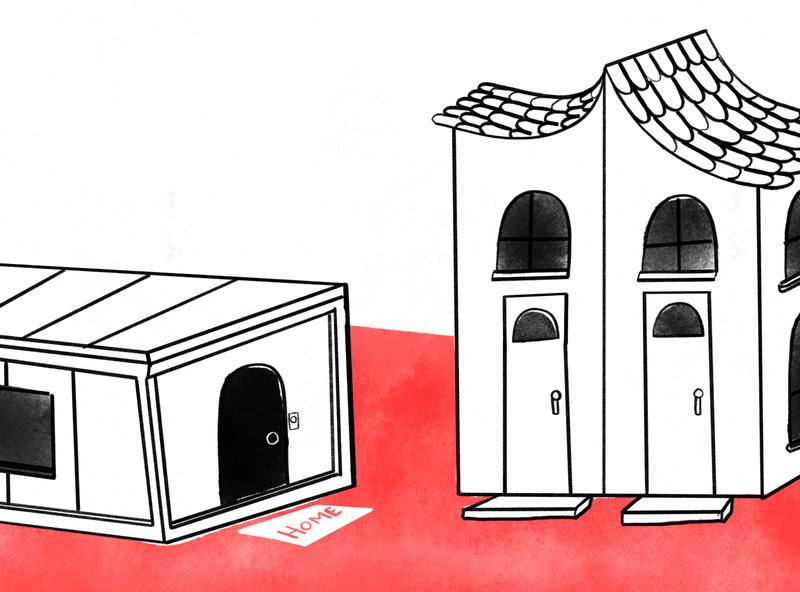 Blog Fondeadora house character design procreate illustration