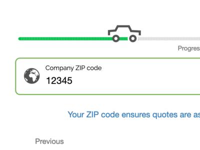 Vehicle tracking progress bar icon