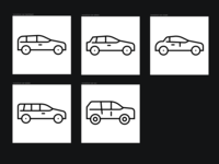 Researching car icons variations