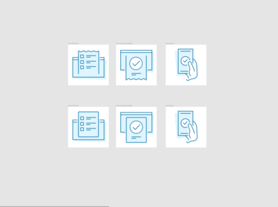 Fill form and save icons variation