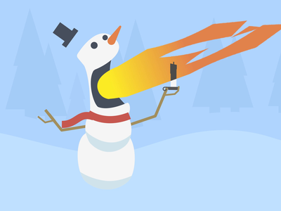 Flaming Frosty holiday card holiday christmas snowman scarf fire after effects funny motion animation character winter snow