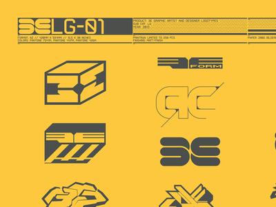 3E Logotypes & Brands V.1 Collection // A2 Yellow