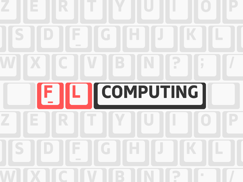 FL Computing freelance front-end backoffice software development typography logo logotype branding
