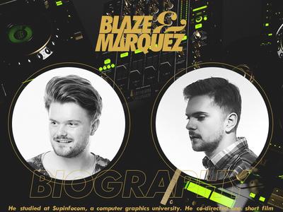 Blaze&marquez logo dj psd