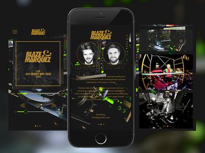 Blazemarquez.com app blaze marquez deep music dj iphone application