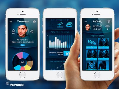 PepsiCo StartTrack pepsico app application motivation pepsi blue