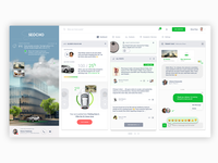 Dashboard building parking responsive mobile minimalistic layout ux ui dashboard